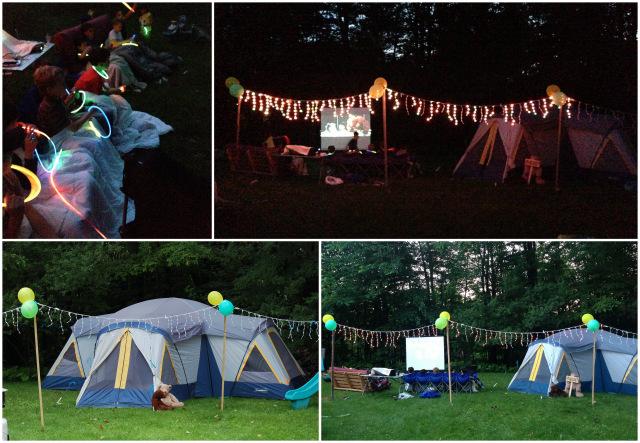 fête sous le thème du Camping wooloo