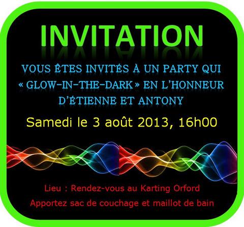 Glow Invitation for adorable invitations example