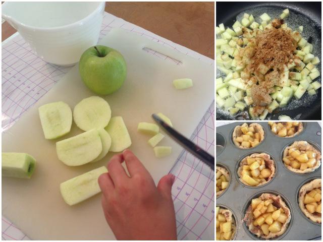 Des mini-tartes aux pommes wooloo