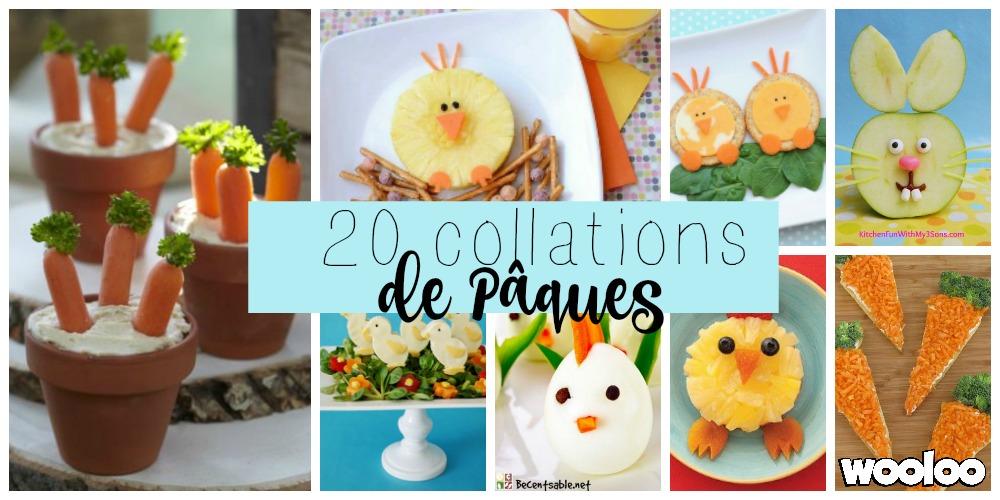 20 idées de collations santé pour Pâques