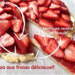 Pizza dessert aux fraises