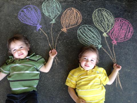 Faire de l'art avec les enfants et de la craie