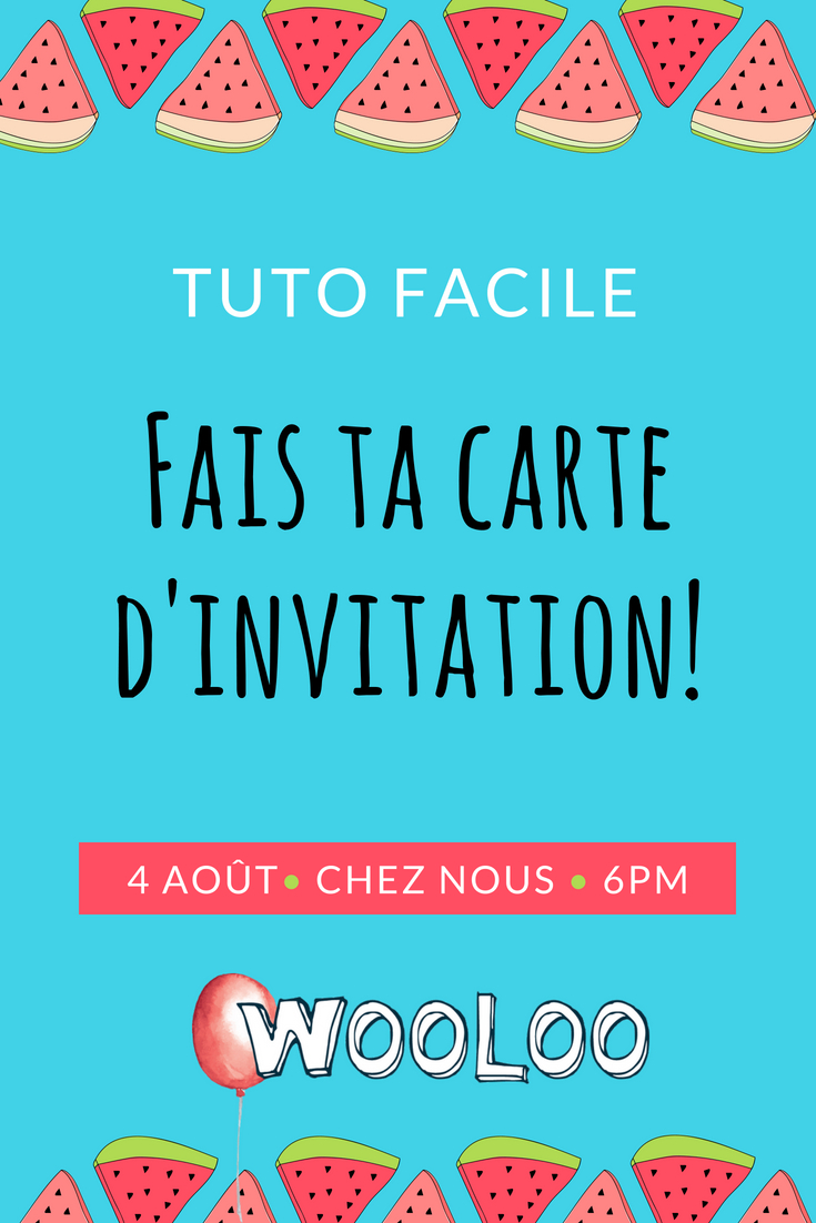Faire une carte d'invitation woo