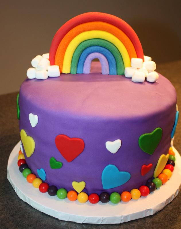 gâteau arc-en-ciel wooloo