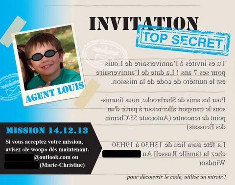 Bien connu Une fête d'enfants sous le thème d'Agents secrets - Wooloo GG94