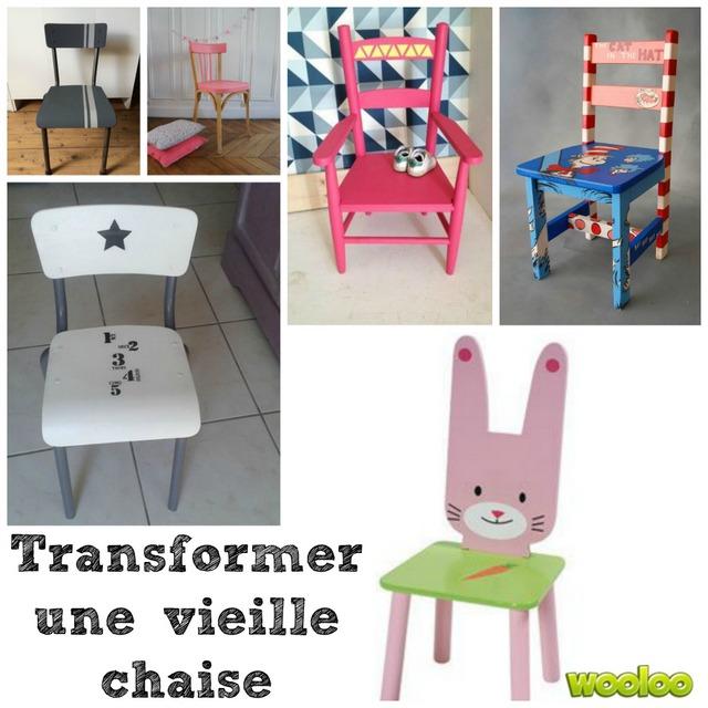 Transformer sa vieille chaise en bois wooloo - Fabriquer une chaise en bois ...