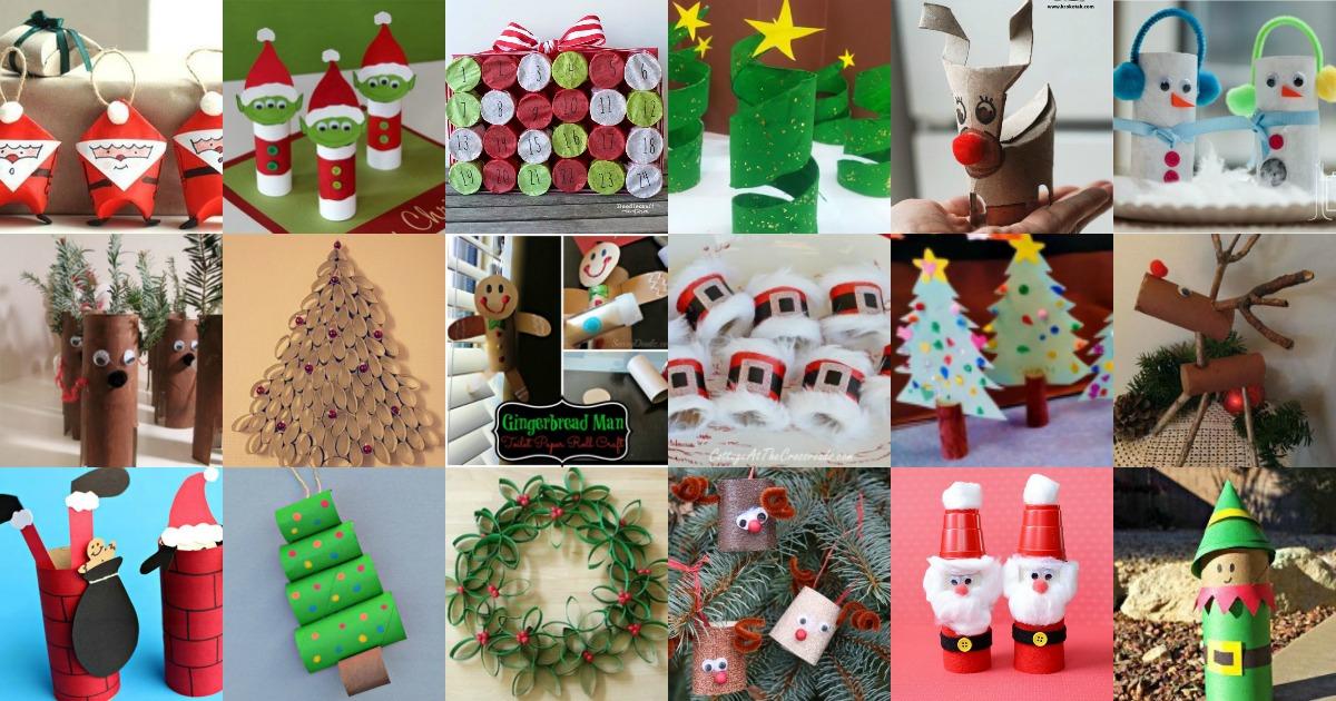 Bricolages de Noël avec des rouleaux de papier