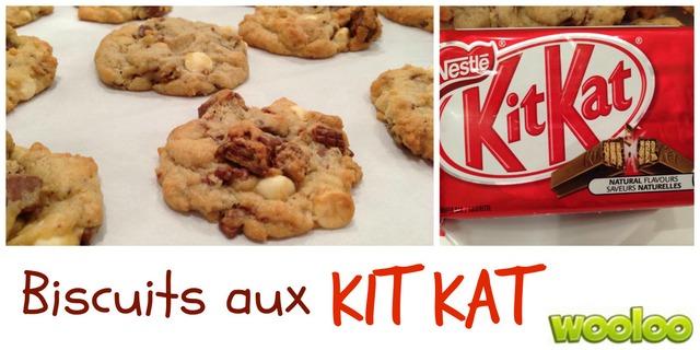 Biscuits aux Kit Kat