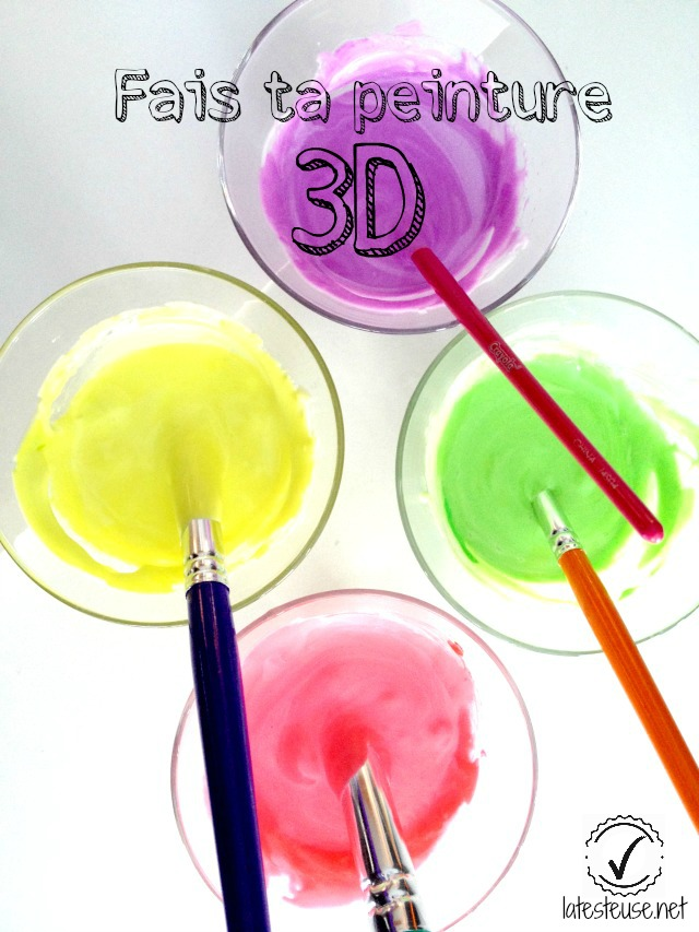 bricolage peinture 3D