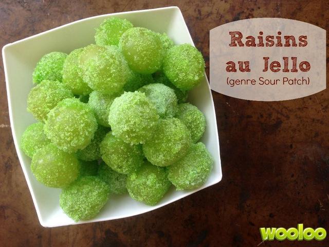 raisins au jello Sour Patch wooloo