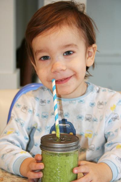 Smoothie vert - comment faire aimer à vos enfants