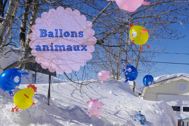 Ballons décorés de Pâques