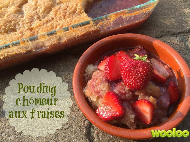 Pouding chômeur aux fraises