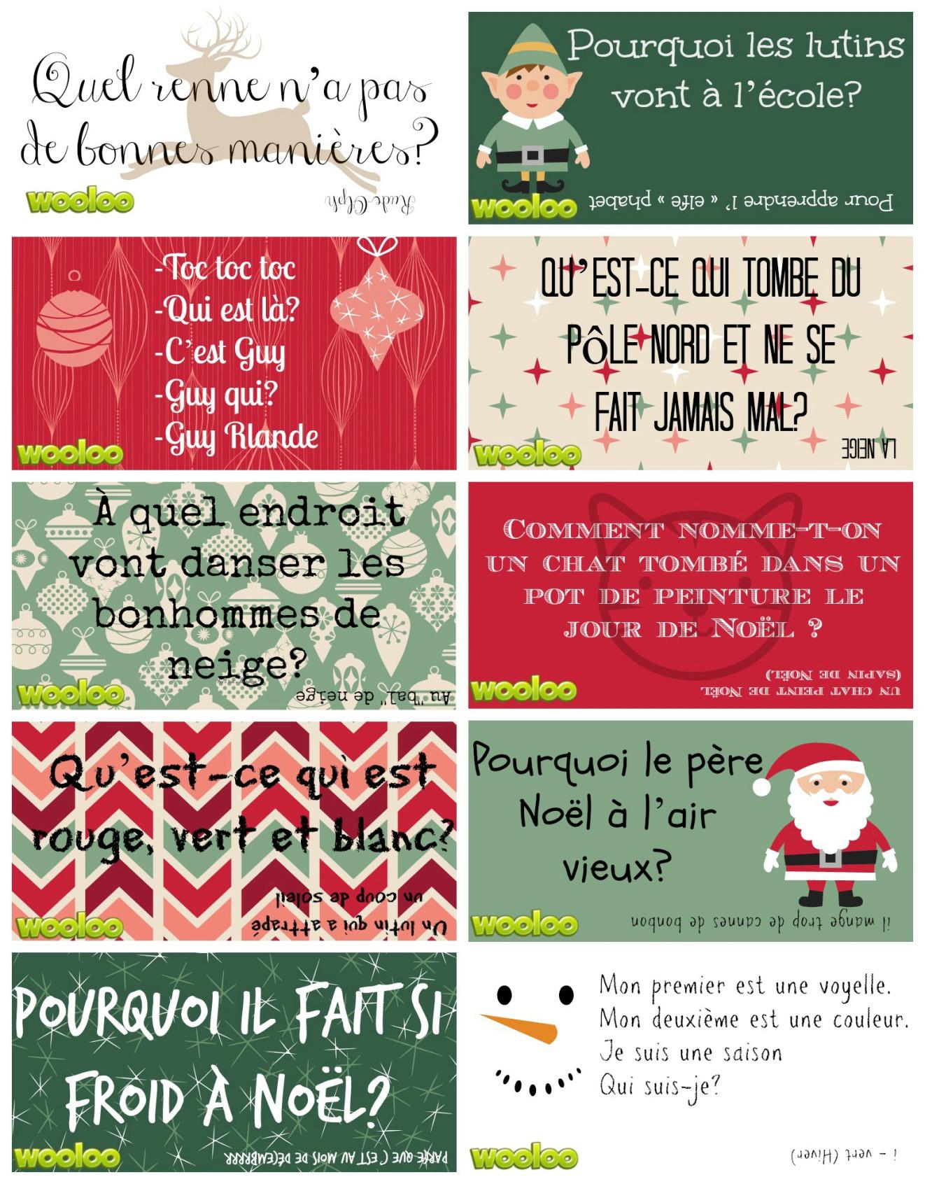 petite blague de noel Étiquettes surprises de Noël pour les lunchs des enfants   Wooloo petite blague de noel