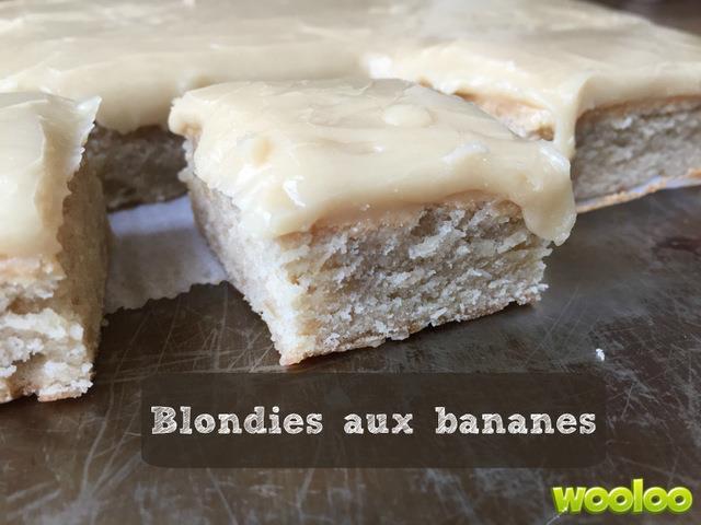 recette banane blondie blanc wooloo