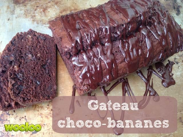 recette banane gateau chocolat wooloo
