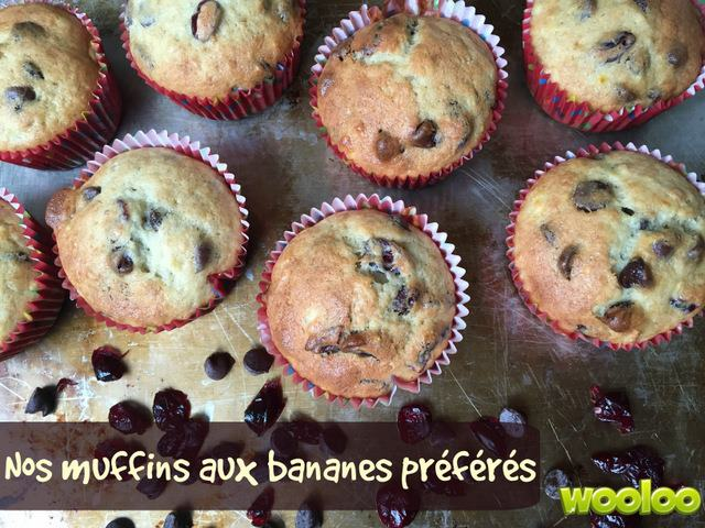 recette banane muffins wooloo