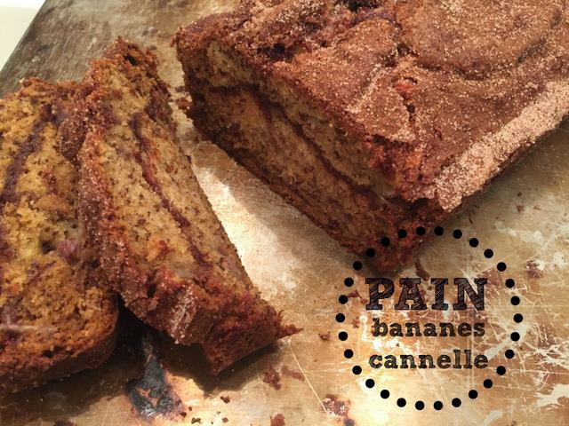 recette banane pain cannelle wooloo