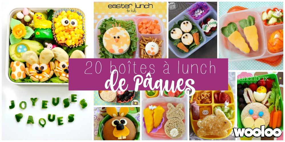 20 Boîtes à lunch pour Pâques