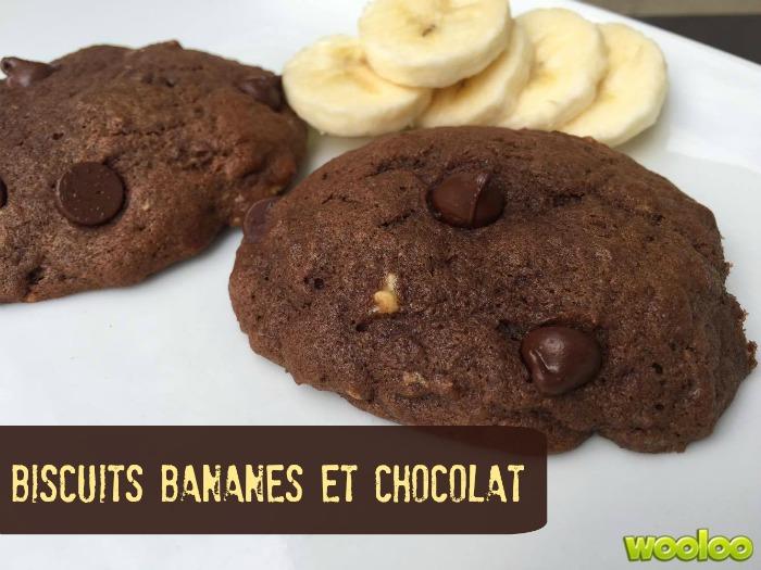 biscuits bananes et chocolat Wooloo