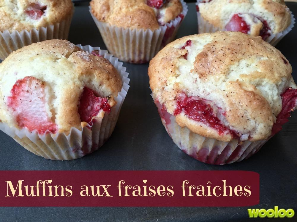muffins aux fraises fraiches Wooloo