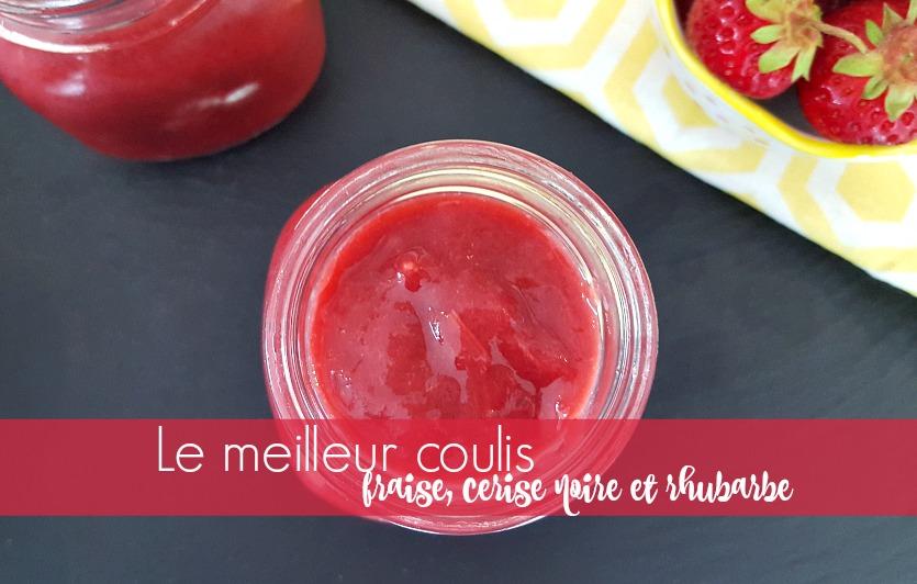 Le meilleur coulis de fraise, cerise noire et rhubarbe Super Mini