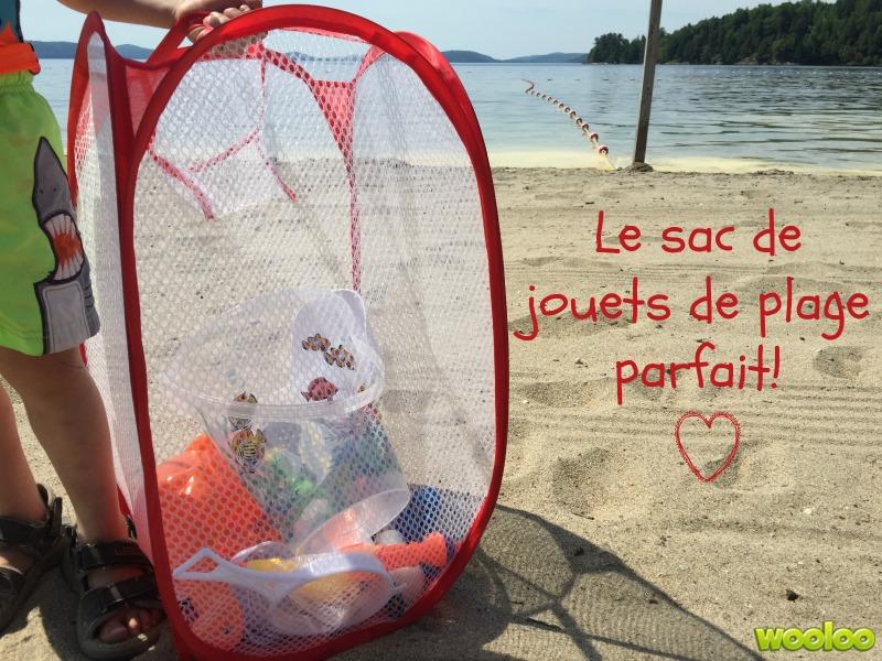 sac de jouets de plage parfait wooloo