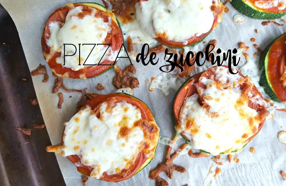 Mini pizzas de zucchini