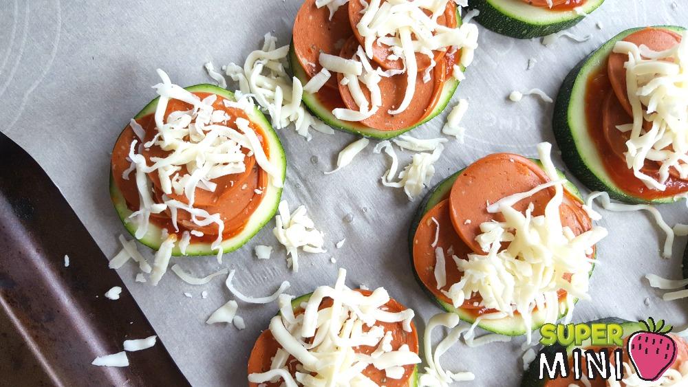 Mini pizzas de zucchini Super mini