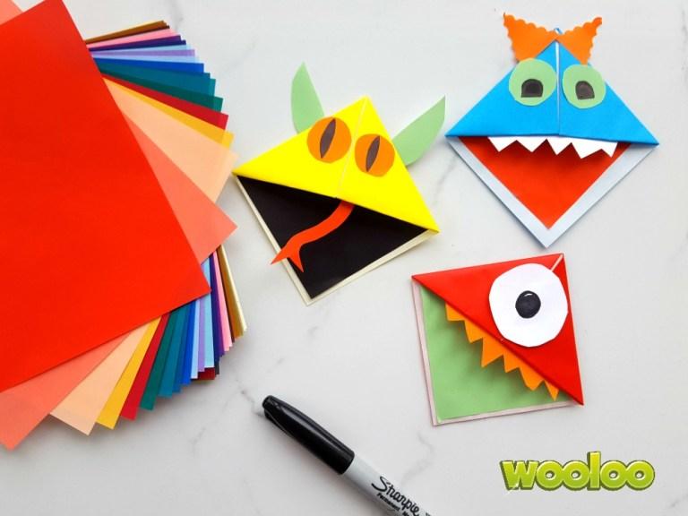 Mes signets origami en forme de monstre
