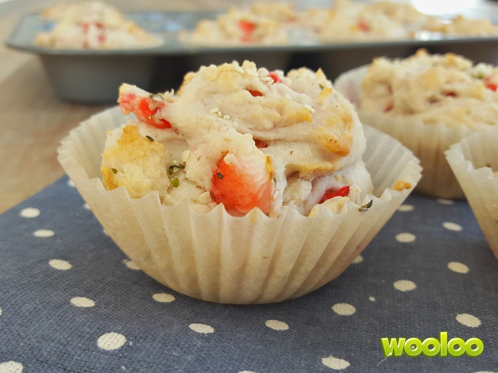Muffins déjeuner aux fraises fraiches Wooloo