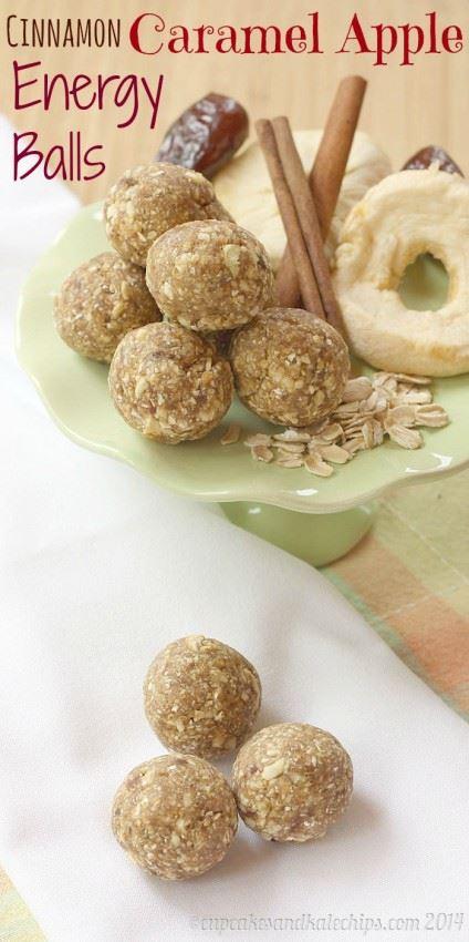 recette boule energie cannelle caramel pommes cinnamon caramel apple energy balls wooloo