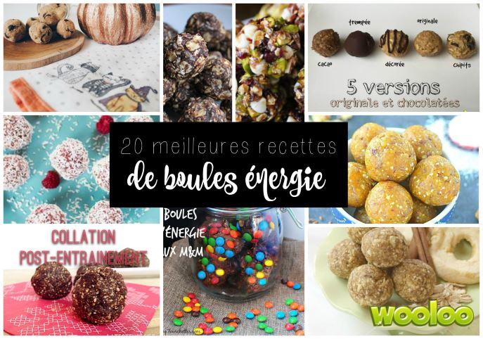 20 meilleures recettes de boules d'énergie