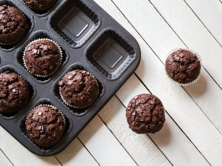 recette muffin double chocolat zero culpabilite wooloo