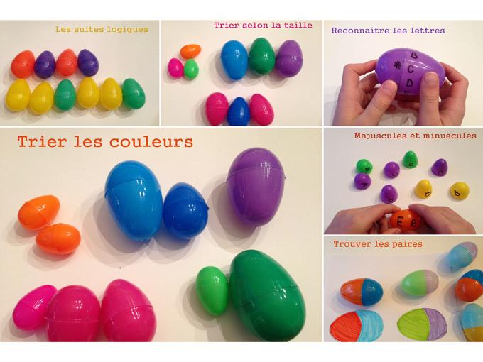 6 activit s avec des oeufs de p ques en plastique wooloo - Oeufs paques maternelle ...