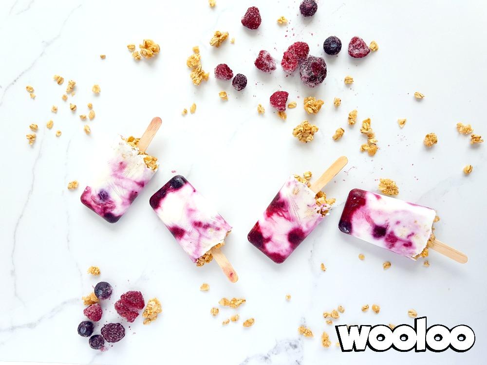 Pops déjeuner au yogourt wooloo