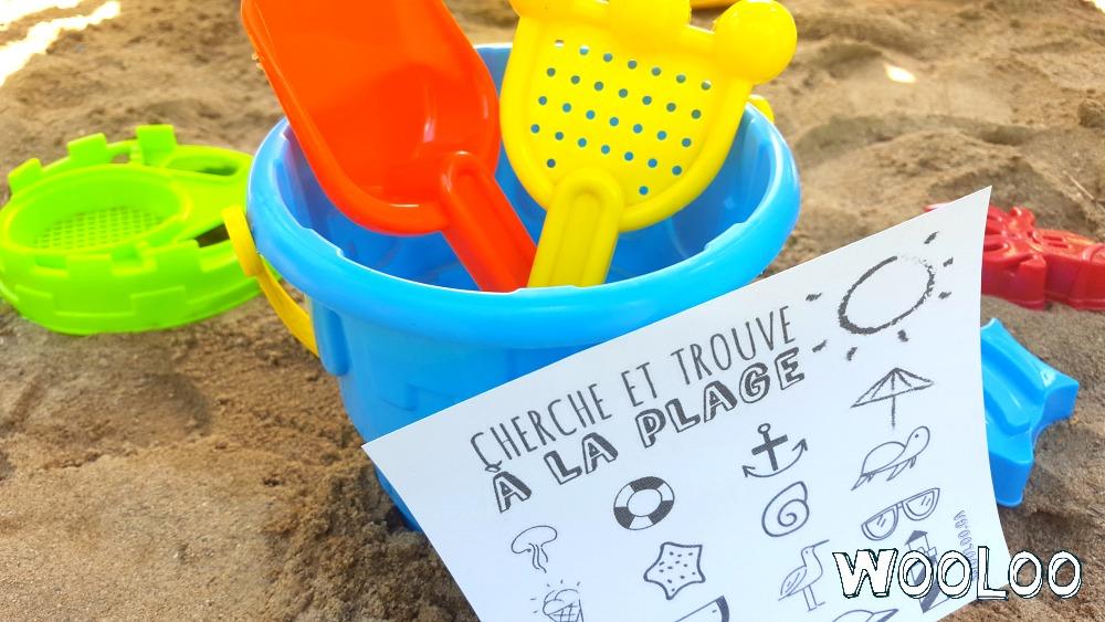 Jeu de Cherche et Trouve à la plage