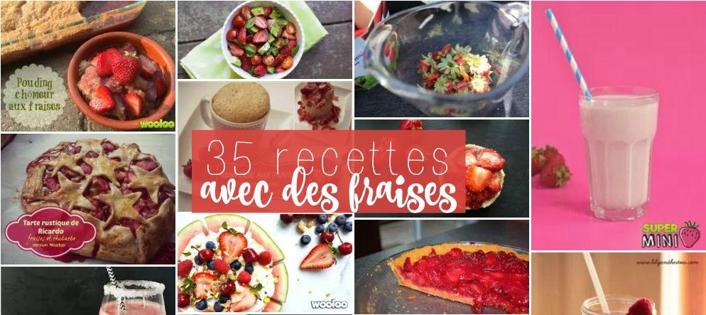 35 meilleures recettes avec des fraises
