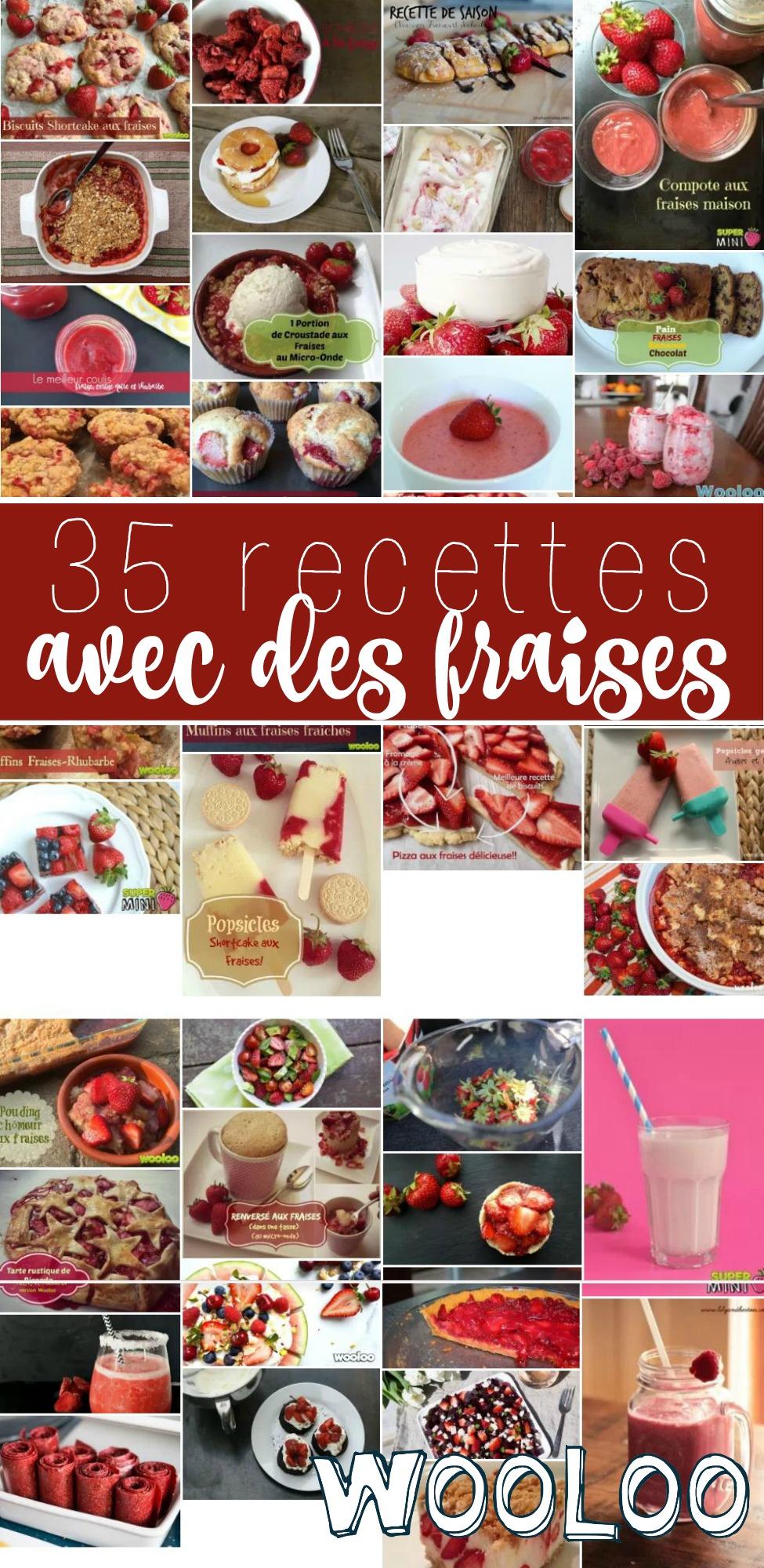 35 recettes avec des fraises wooloo