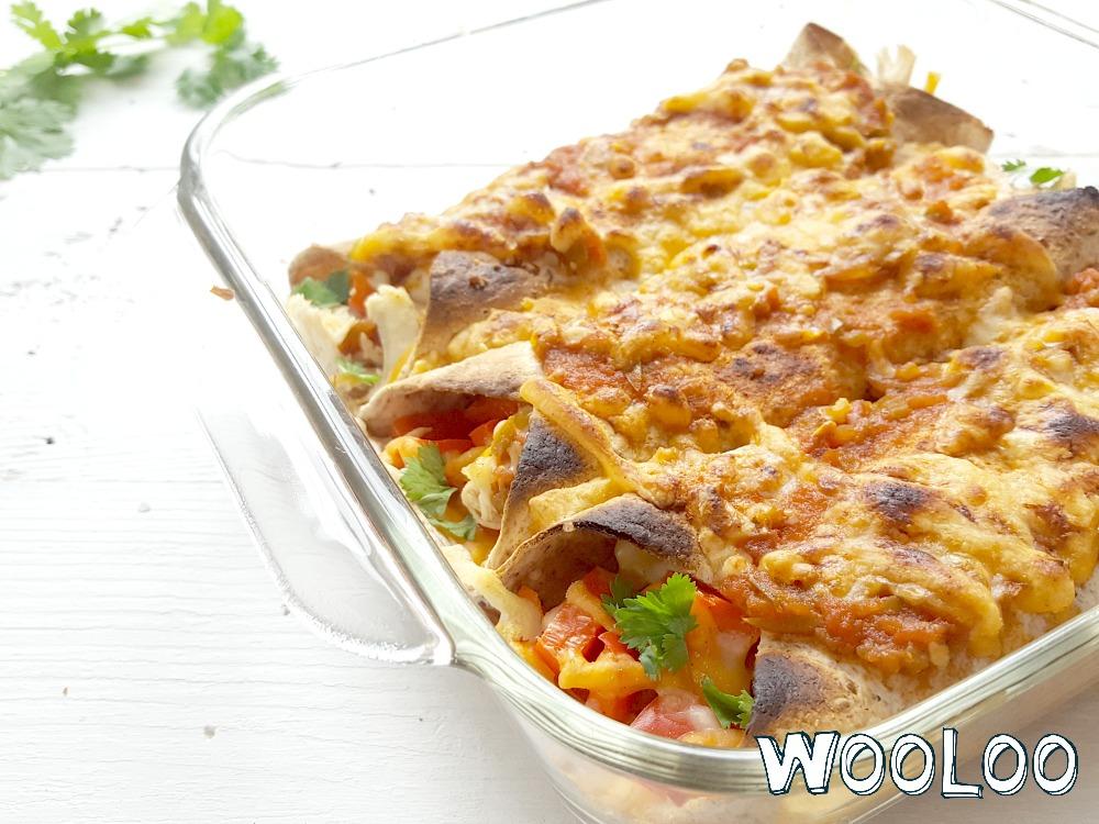 Enchilidas faciles au dindon, salsa et fromage à la crème