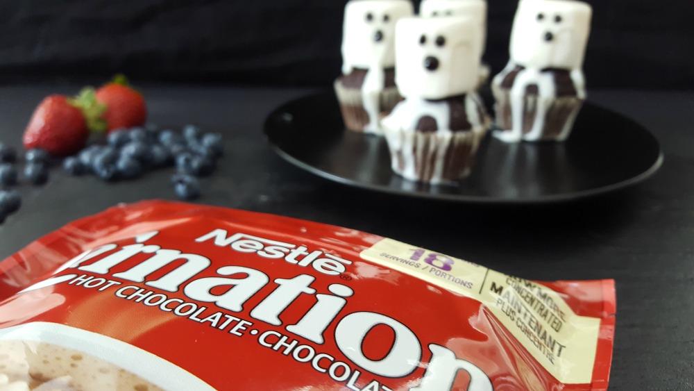 Cupcakes fantôme au chocolat chaud / wooloo