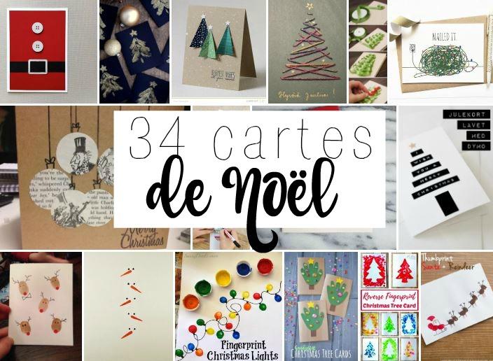 34 Jolies Cartes De Noël Pour Inspirer Vos Chefs D Oeuvre