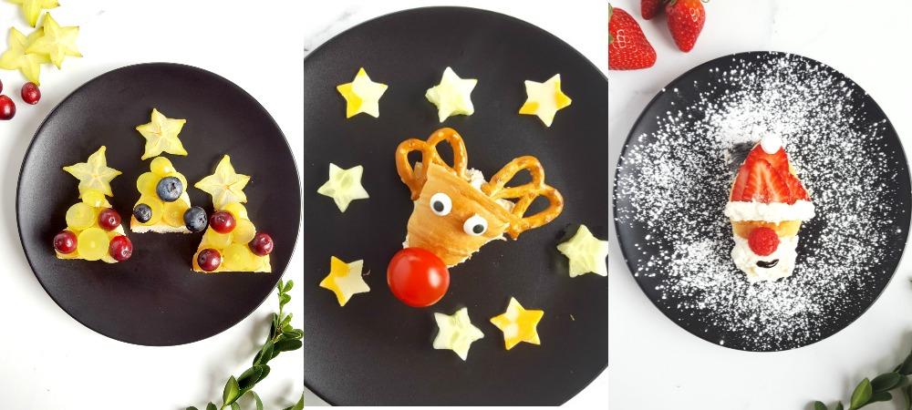 Le Food Art et mes 3 assiettes de Noël pour tout-petits