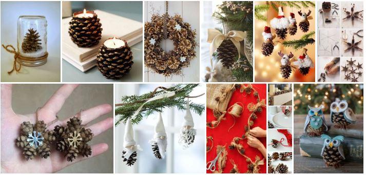 Bricolages de Noël avec des cocottes