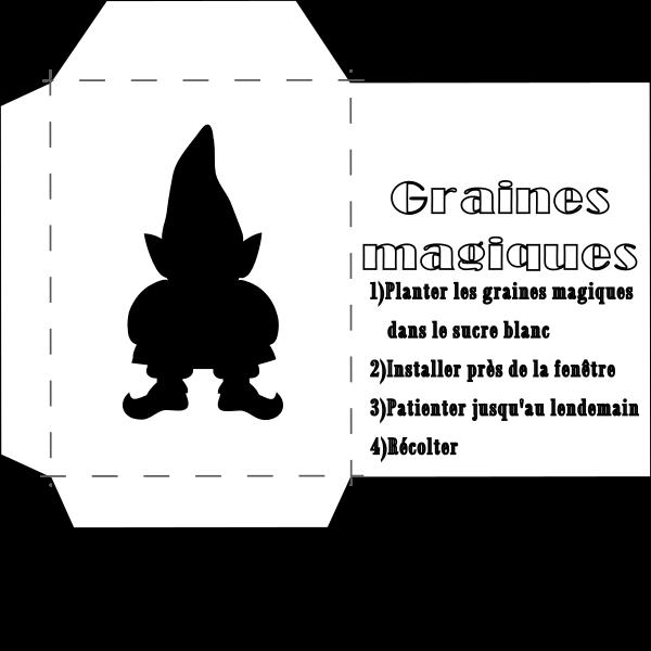 enveloppe de graines magiques