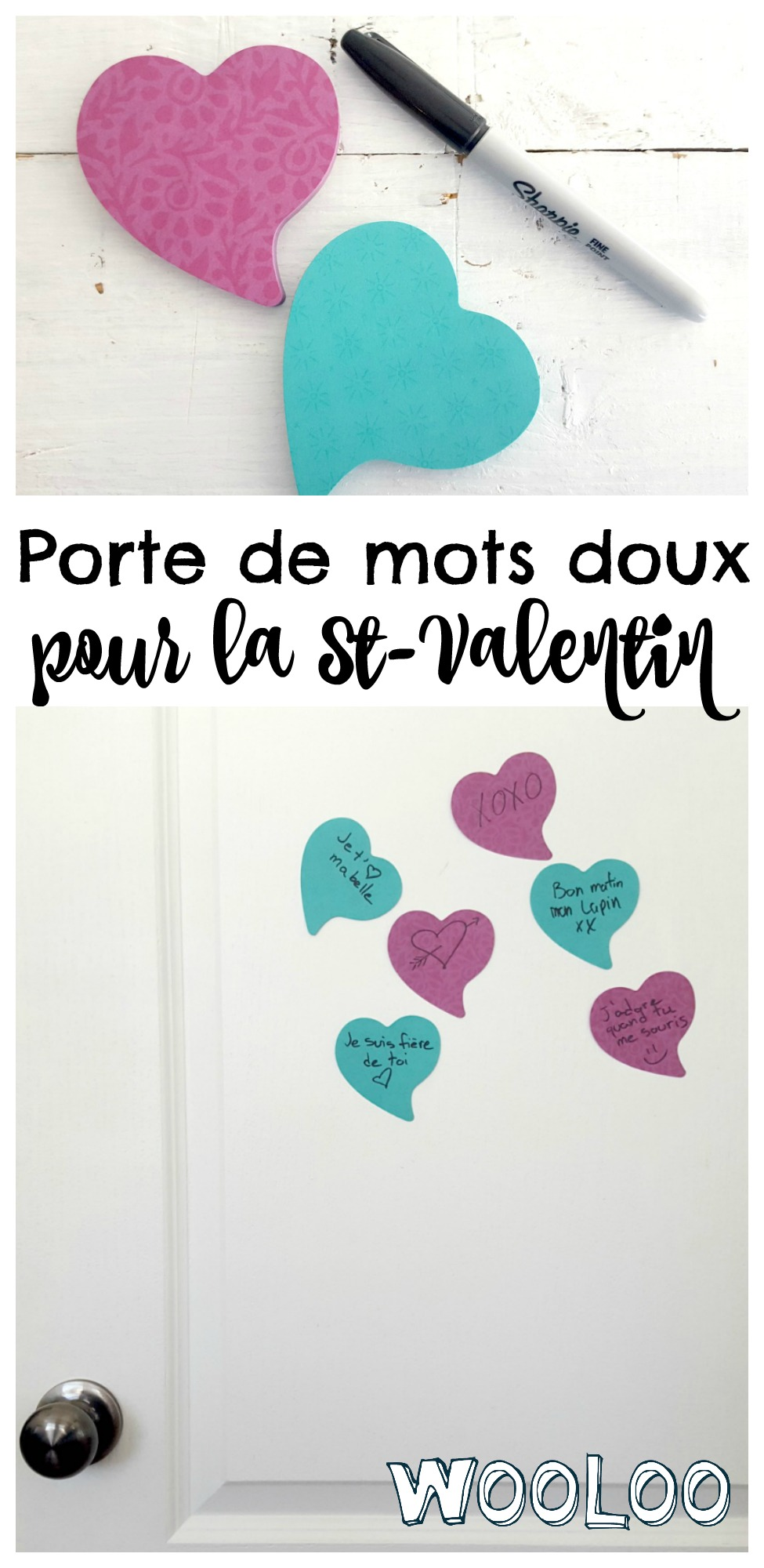 Porte de mots doux pour la St-Valentin / wooloo