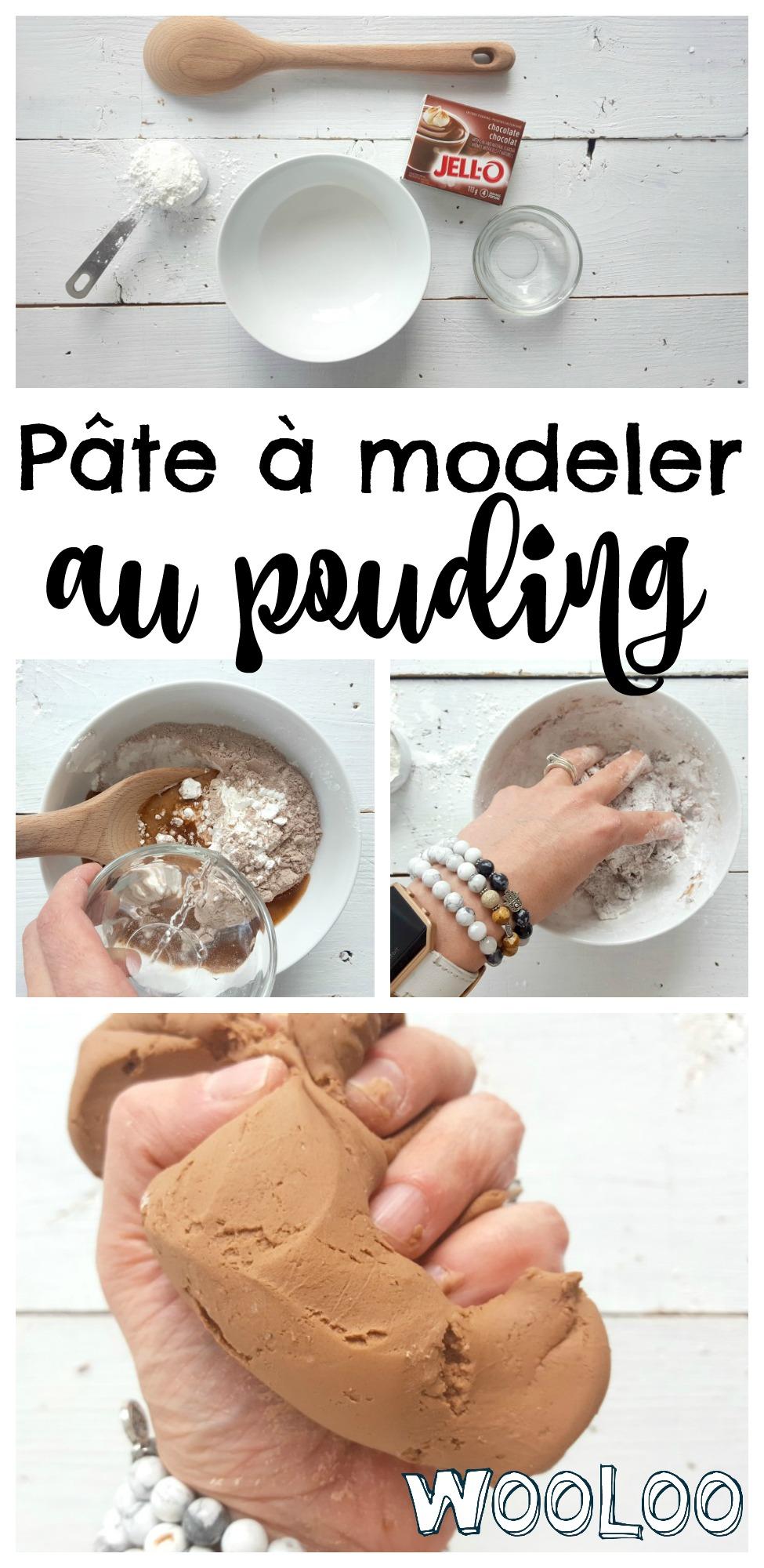 Pâte à modeler comestible au pouding / wooloo