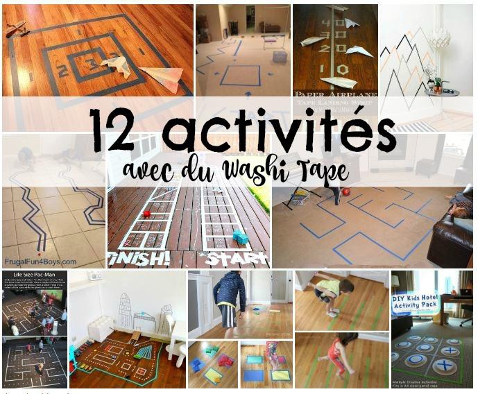 Tout plein de belles idées d'activités avec du Washi Tape