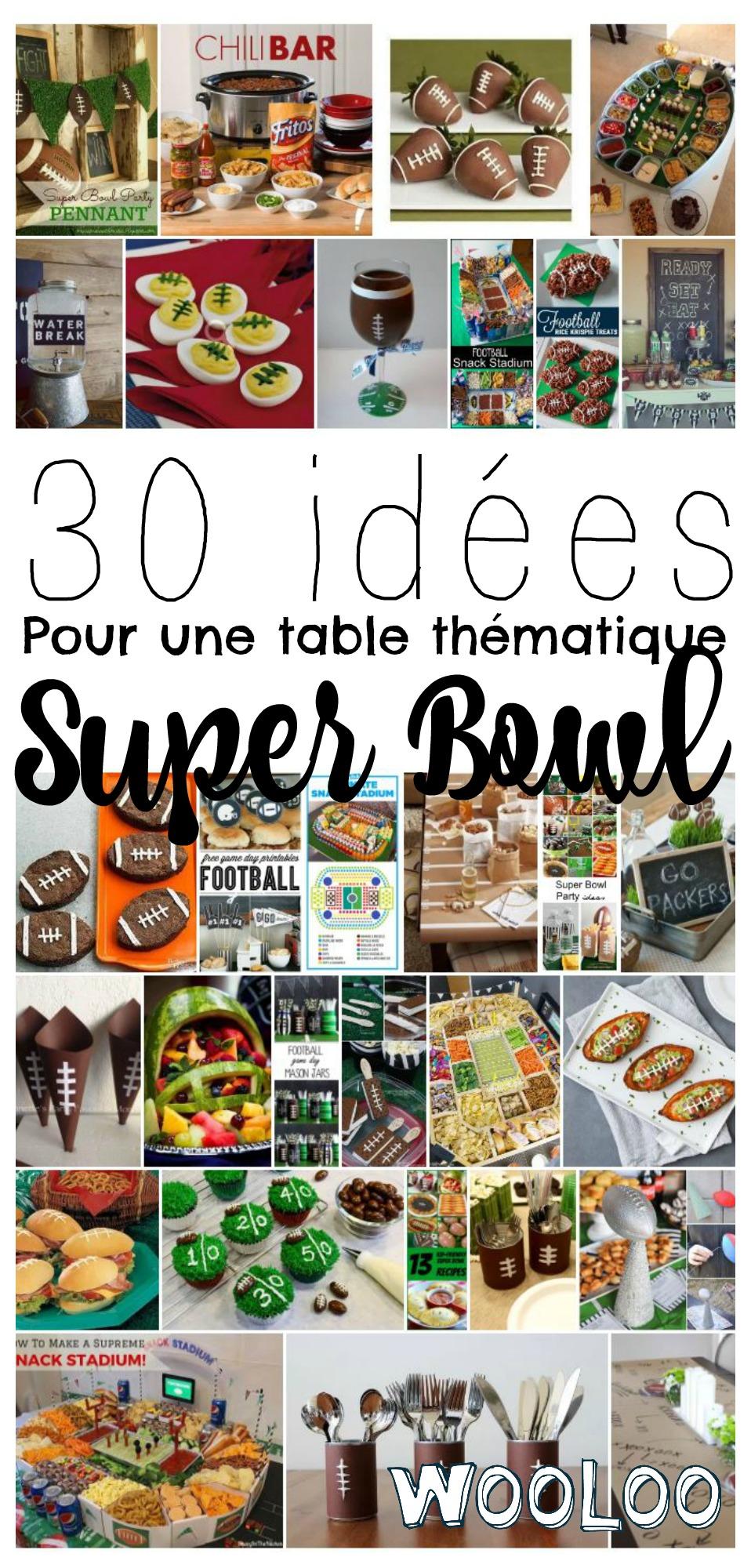 table thématique pour le super bowl / wooloo