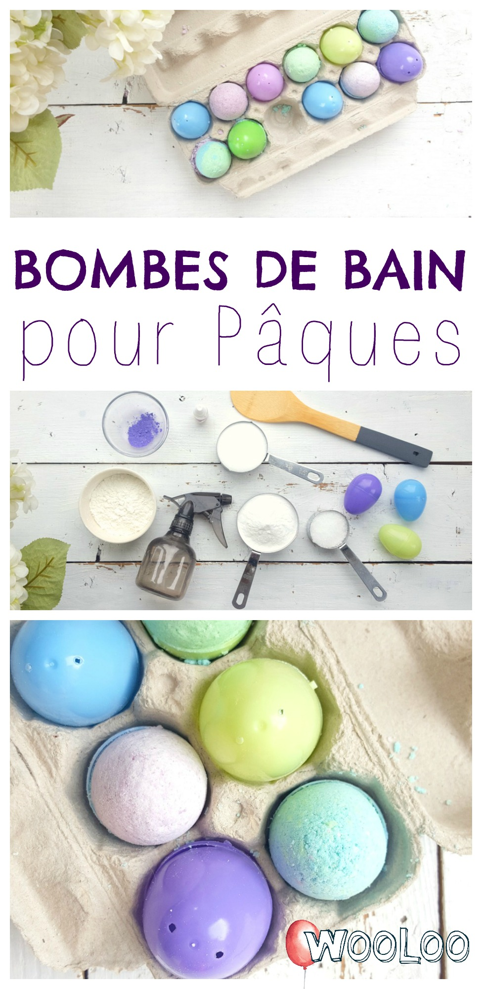 bombes de bain cocos de pâques wooloo